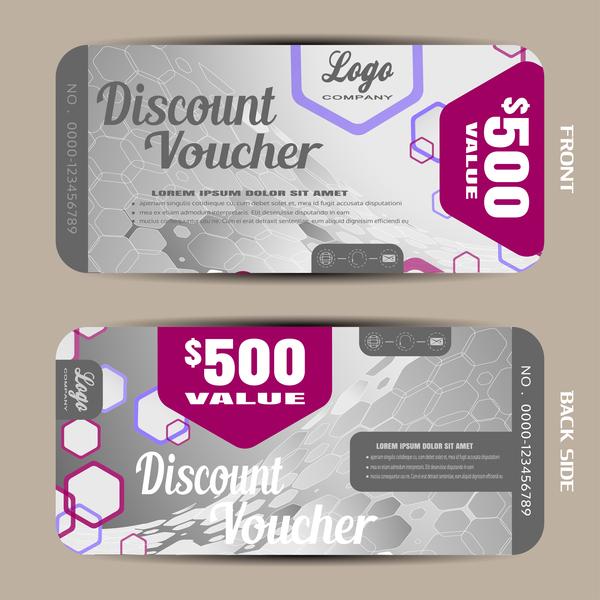 28gwri50htczp09 Modern discount voucher template vector 03