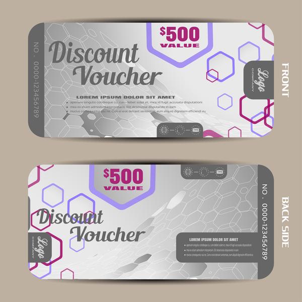 29roqdoocllcf09 Modern discount voucher template vector 02