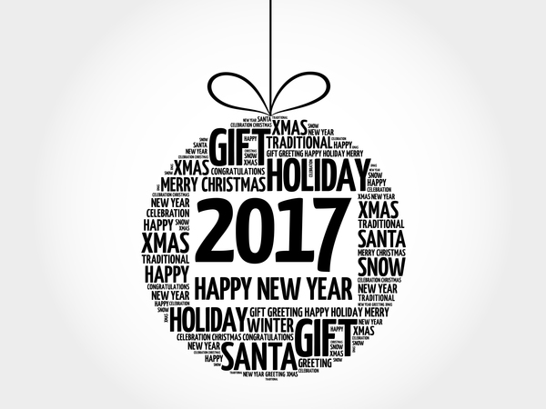 33rpqytooe0mf09 2017 new year with word cloud christmas ball vector