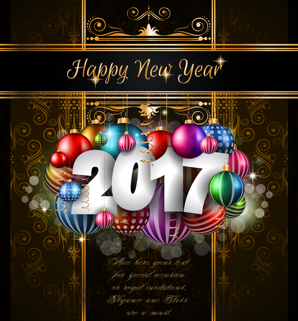 36muhqr34xpxo09 2017 new year gold design with dark background vector 01