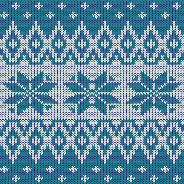 47au3d4onfc3h09 Nordic knitted pattern with snowflakes vector