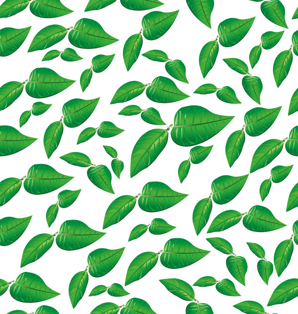 024n4gatnth1010 Green leaves seamless pattern vectors