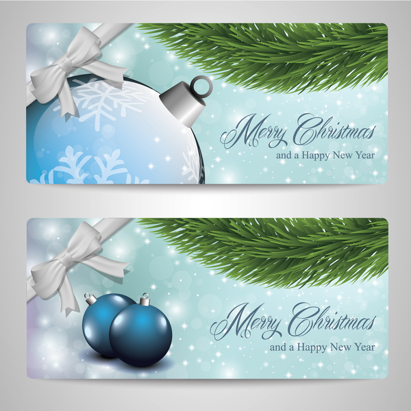 02ccbpo430tco10 2 Kind christmas banners vector material