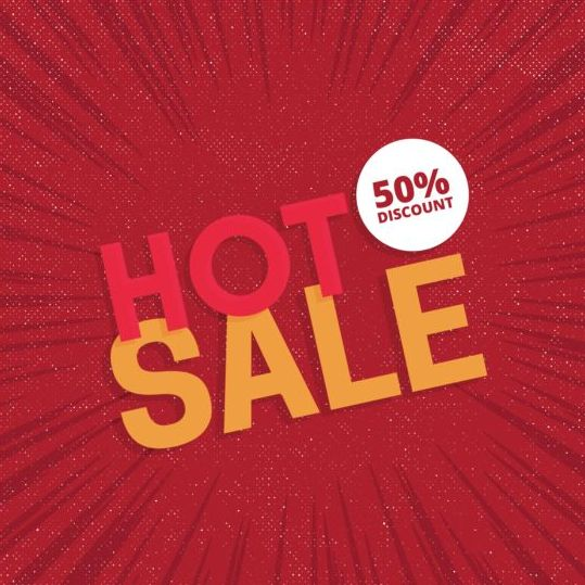 19dhekdohuxf510 Red hot sale background template vector 06