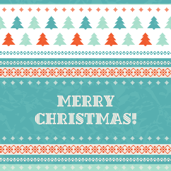 year seamless new christmas card borders
