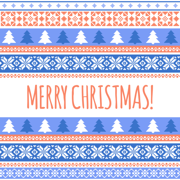 26x0qwfalbbfi10 Christmas and New Year card with seamless borders vector 03