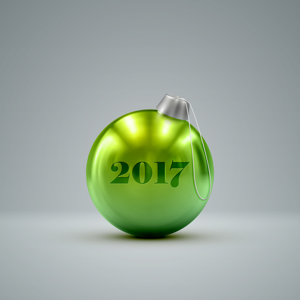 30duwdgnrqd5z10 Shiny green christmas ball vector material 03