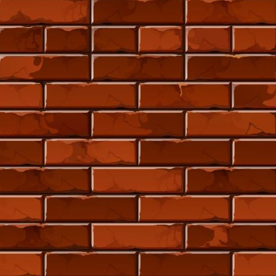 Brick Vector Picture Brick Veneers: Brick Wall Seamless Patterns Vector 02