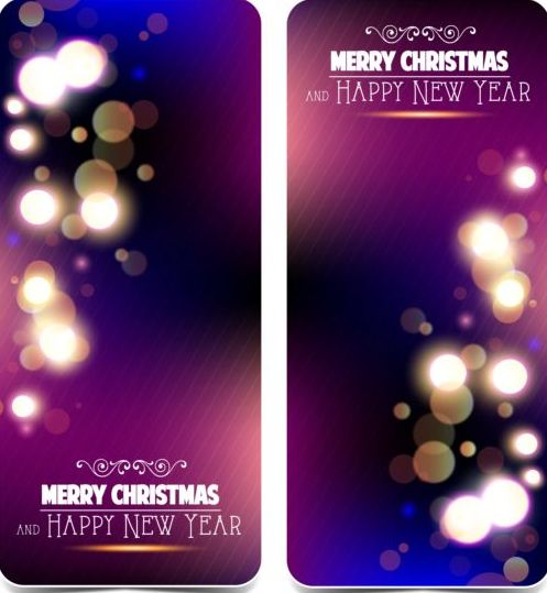 52zgfmakt2ntv10 Shining purple christmas greeting card vectors