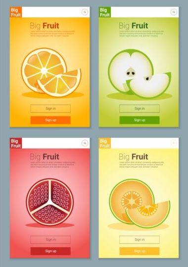 interface fruit colorful app