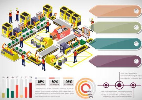 isometric infographics industry