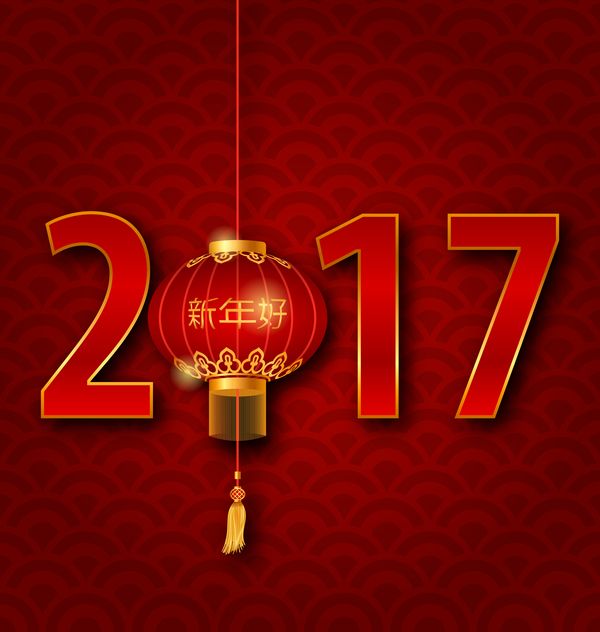 432douy2ux51412 lantern with chinese new year red background vector 05