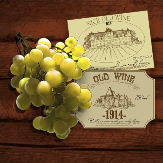 wood wine grapevine background