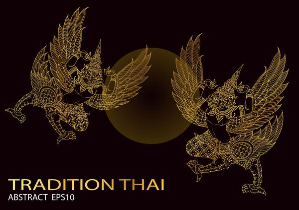 Tradition Thai king bird