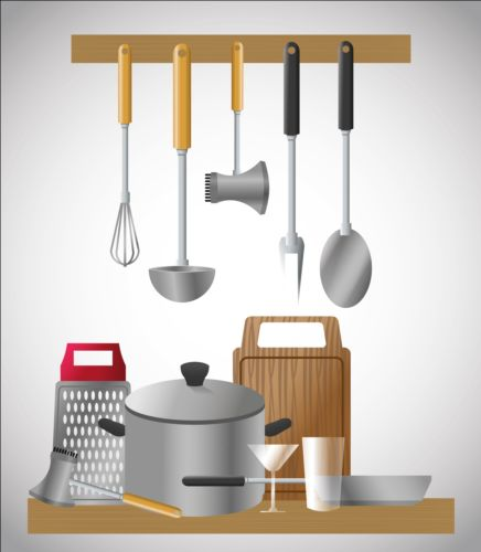 tools kitchen illustration