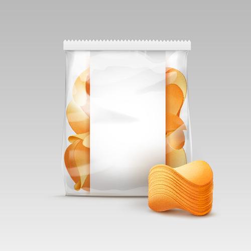 transparent potato plastic package crispy chips