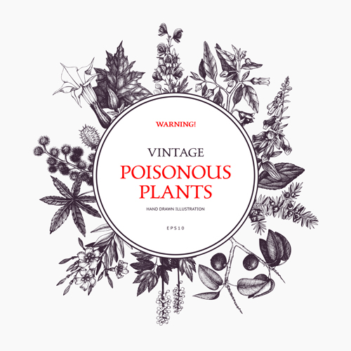 warning vintage poster Poisonous plants