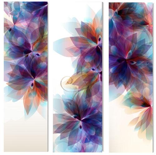 30zfqyurkd2zj14 Floral vertical banner vctor material