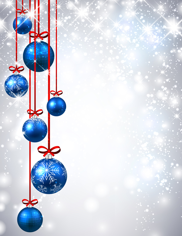 57gkkmhbctcsf14 Blue christmas ball shiny background vector