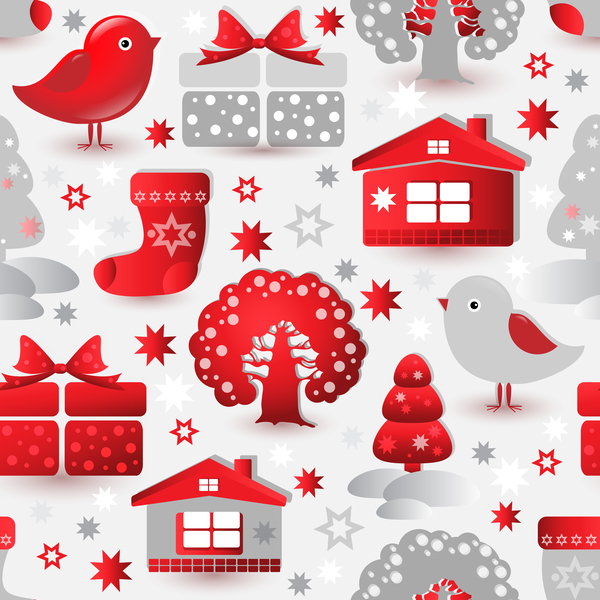 seamless Sample pattern elements christmas
