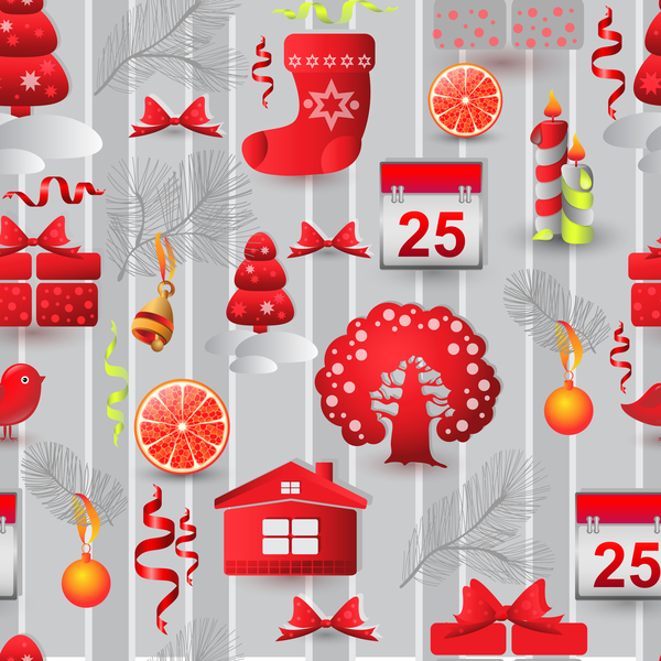 seamless Sample pattern elements christmas