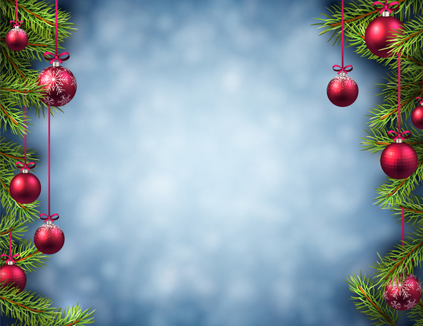 22il22xzzxily15 Red christmas ball with blurs background vector