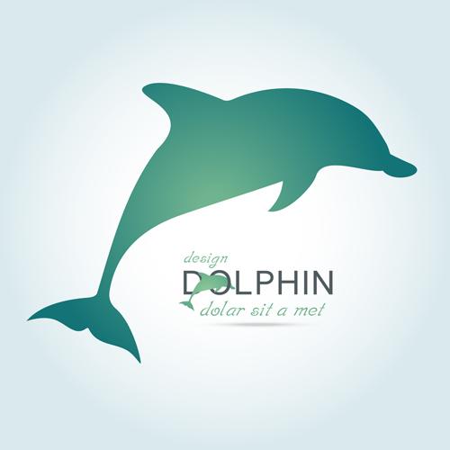 52d0qdf5g0jkt15 Creative dolphin vector backgrounds 01