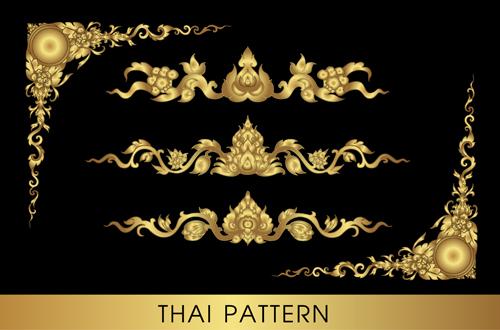 Thai ornaments golden