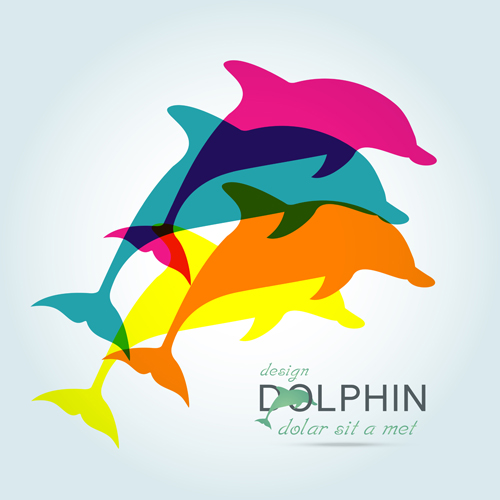 05rnno04mspb016 Creative dolphin vector backgrounds 06