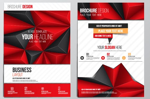 Red style flyer brochure