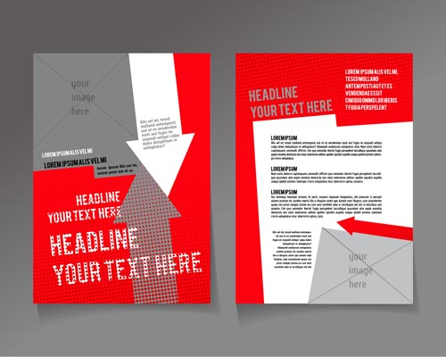 1124gcekbup0l16 Red styles flyer and cover brochure vector 03