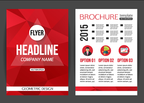 152rswzzxyup316 Red styles flyer and cover brochure vector 01