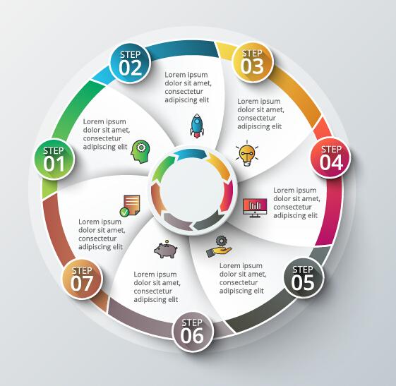 18cbjl2vy23hu16 Modern circular infographics vector design set 02