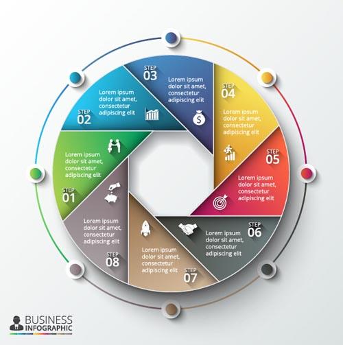 modern infographics circular