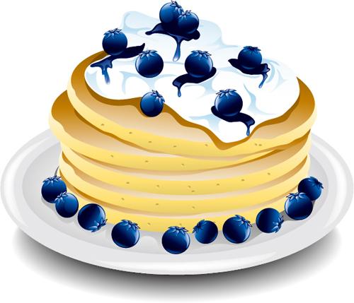 20xq1k4wnrjqc16 Pancake blueberry platter vector material