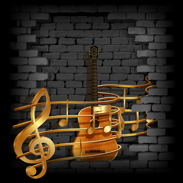 wall stone music guitar frame brick