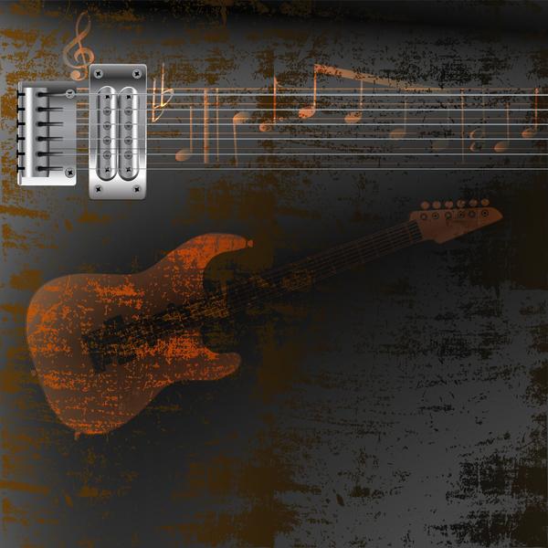 strings rusty metal guitar