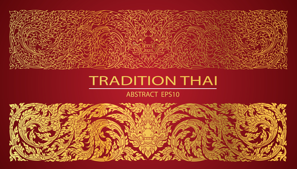 Tradition Thai pattern line abstract