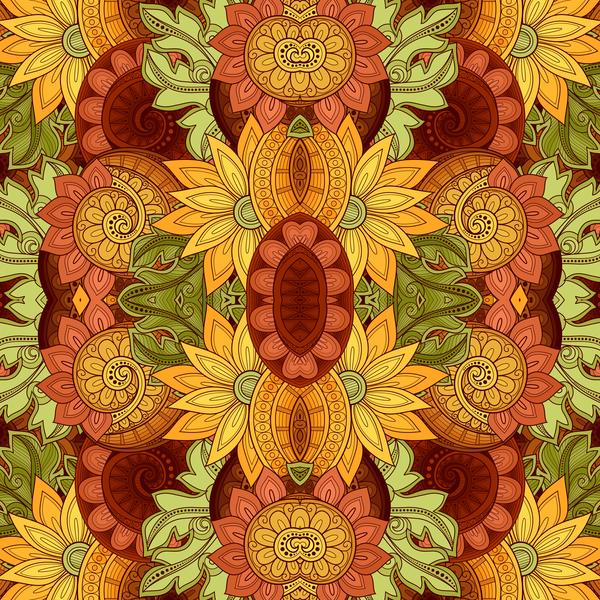 seamless Retro font pattern floral