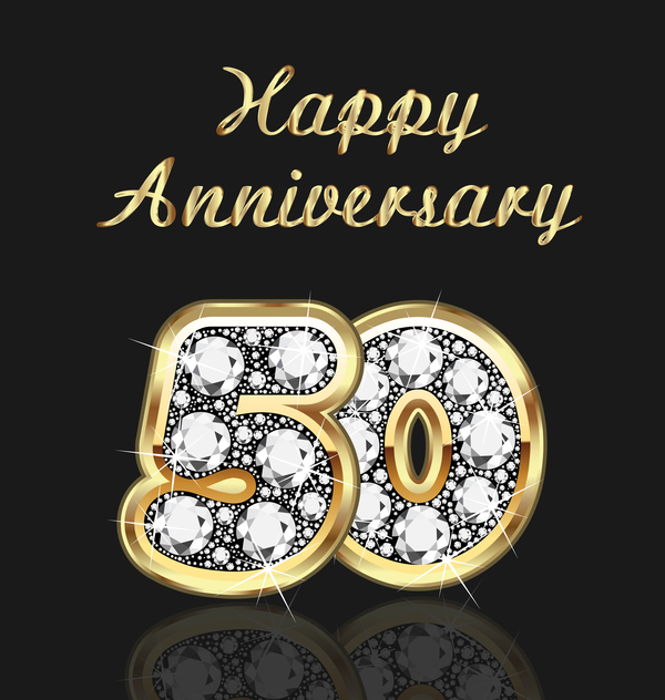 happy gold diamonds anniversary