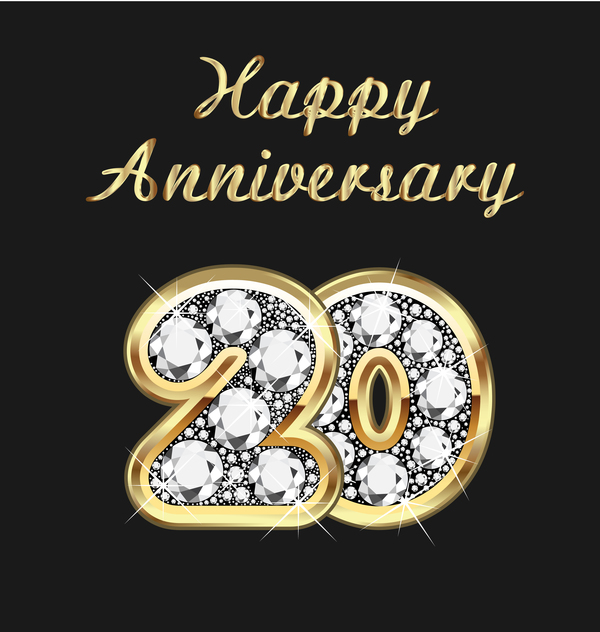happy gold diamonds anniversary