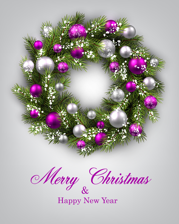 39gyykwts43px21 Christmas ball frame with greeting card vector