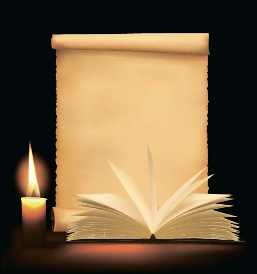 paper old candle book