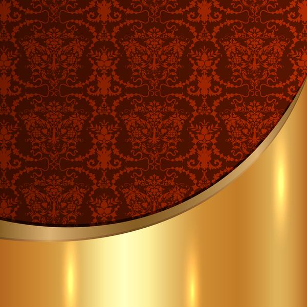 Patterns metal Golded decor