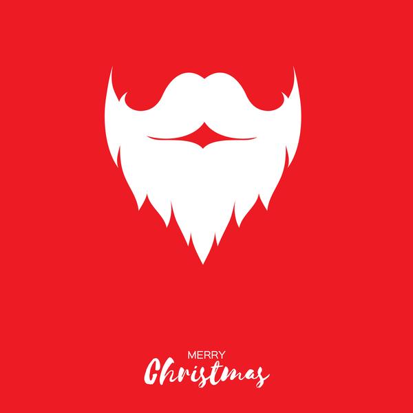 paper christmas card beard