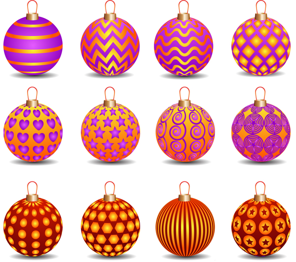 5311leldruim125 Decor pattern christmas ball vector