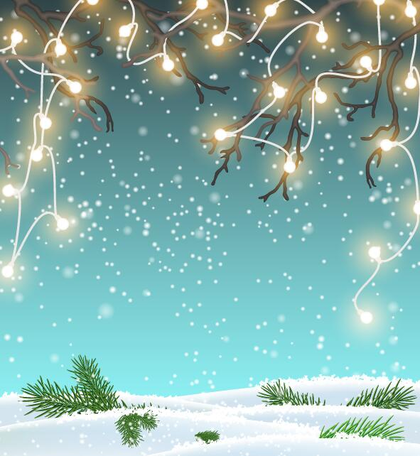 winter light bulb Chrishtmas