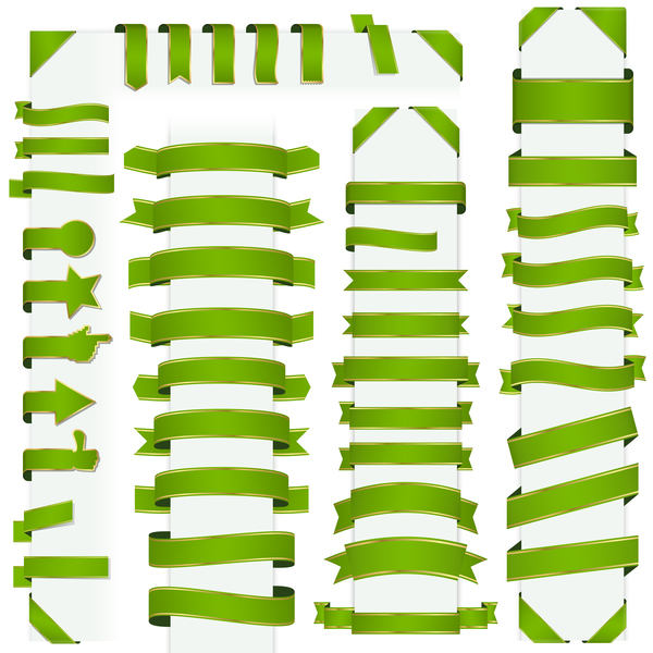 07q00tqswu0dc27 Green ribbon banners vectors 01