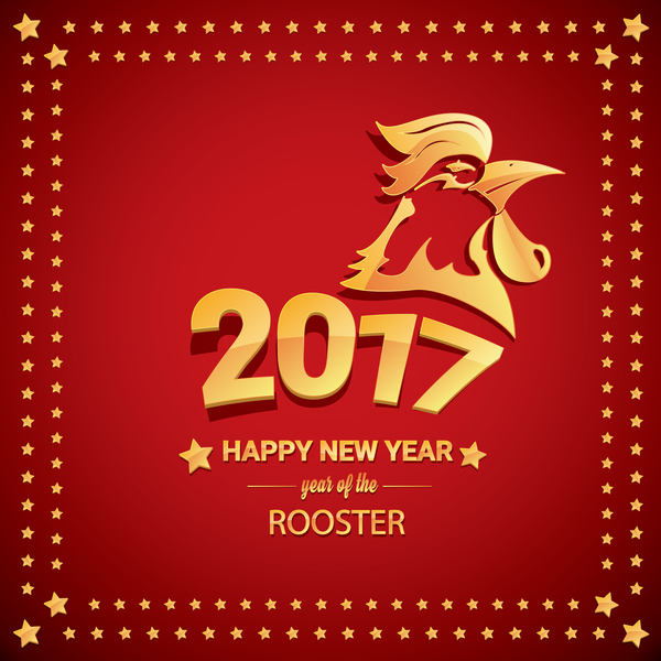03egooa2sklng29 Chinese New Year 2017 with Rooster and red background vector 07