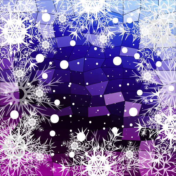 43fezszasw3ck30 Christmas snowflake with shiny polygon background vector 13